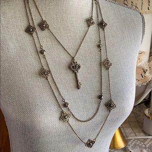 3 Strand Key Necklace